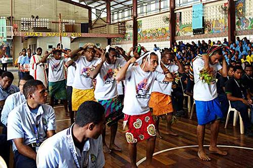 Trường Kỹ thuật Don Bosco tại Gabutu, đảo Papua New Guinea, mừng Đại lễ Mẹ Lên Trời.