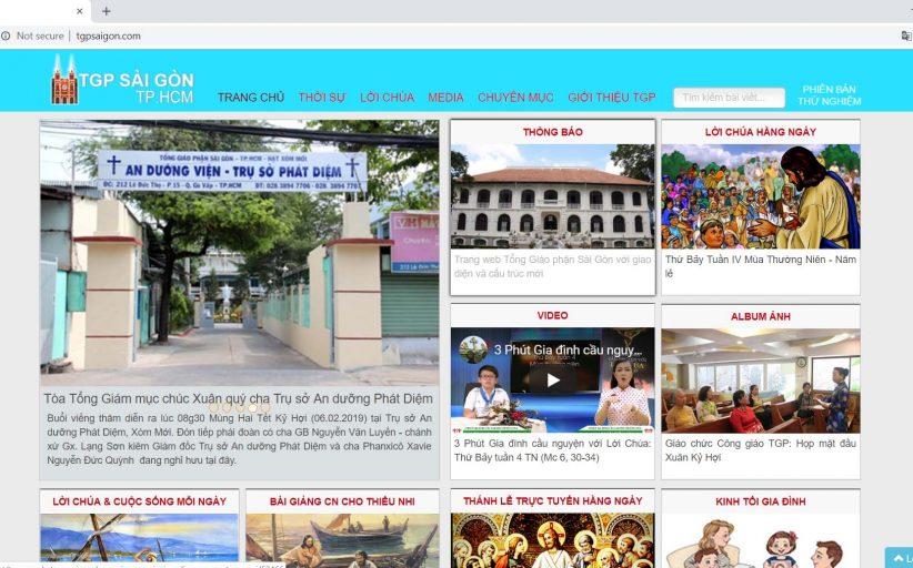 Trang web mới của TGP Sài Gòn