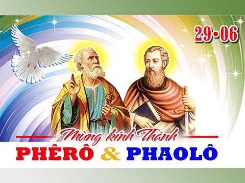 Suy niệm Lời Chúa - Lễ Thánh Phêrô và Thánh Phaolô