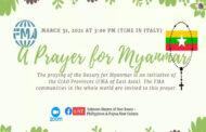 Hội Dòng Con Đức Mẹ Phù Hộ cầu nguyện trực tuyến cho Myanmar
