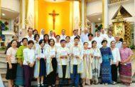 Các cộng đoàn Salêdiêng tại Thái lan đón nhận một số tân tòng gia nhập Hội Thánh