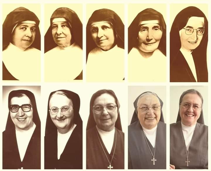 Các Mẹ Bề Trên Tổng Quyền kế vị Mẹ thánh Maria Domenica Mazzarello